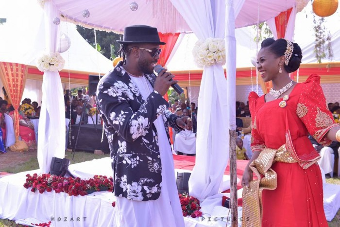 Bebe Cool performing at Mimi's introduction ceremony, shots by Mozart pictures